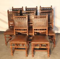 Antik reneszánsz stílusú bőr székek!