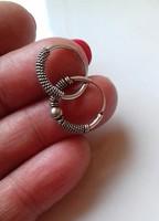 2 db uniszex  kis ezüst fülbevaló
