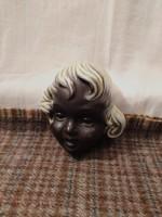1,-Ft Antik art-deco kerámia fej,Puttó!