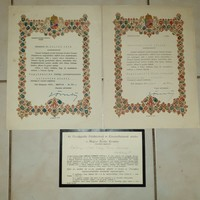 Gömbös Gyula temetési meghívó + 2 db Nemzeti Egység aláírt kinevezési dokumentum