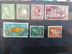 ÍRORSZÁG 7db használt bélyeg.