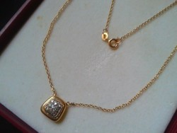 Brilles 14kr.arany collier