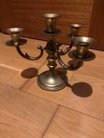 Jelzett 4 ágú réz gyertyatartó ( Indiai )