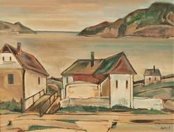 Bojtor Károly (1933 - 1999) Balatoni táj Képcsarnokos olajfestmény 88x70cm EREDETI GARANCIÁVAL !
