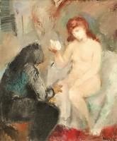Iván Szilárd (1912 - 1988) Betsabé c. Képcsarnokos festménye 103x88cm EREDETI GARANCIÁVAL !!!