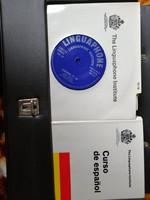 Komplett Linguaphone spanyol régi nyelvoktató csomag könyvekkel, hanglemezekkel, hiánytalanul