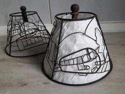 Különleges,egyedi? vas,lámpaernyő váz,kovácsoltvas jellegű,retro