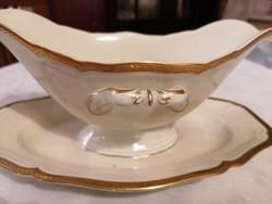 Rosenthal szószos, fehér-arany, nagyméretű, gyönyörű!