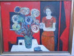 Szentgyörgyi Kornél (1916-2006)Kossuth és Munkácsy díjas.1974-es eredeti alkotása.Garancia.