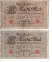 Németország 1910, 1000 Márka