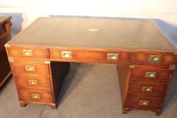 Antik Angol,bőrlapos,térbe állítható íróasztal!