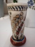 Zsolnay pecs 1880 Ritka miniatur vaza 8cm