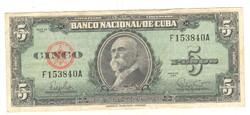 5 peso 1960 Kuba