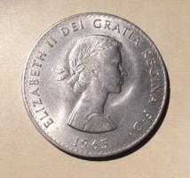 LEÁRAZVA! - 1965-ös 1 korona, II.Erzsébet - Churchill emlékérme