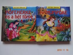Pöttöm könyvek: Hófehérke + Hamupipőke - két szép könyv együtt