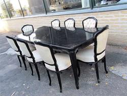 Barokk asztal+ 8 db szék