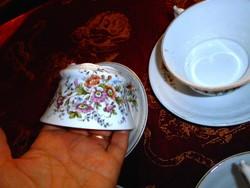 2 db együtt Szecessziós  kézzel festett  porcelán teás  csésze és alj