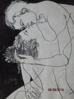 Szerelmespár 1981 ALLE   82 x 63 igazi romantikus kép