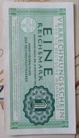 III.Birodalom horogkeresztes hajtatlan 1 Reichsmark.