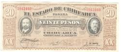 20 peso 1914 Mexiko Chihuahia