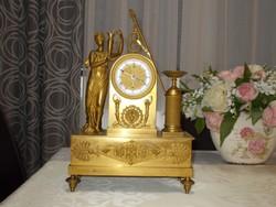 Tűzi aranyozott nagy Birodalmi Francia kandalló óra