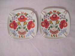 Porcelán hamutál Hollóházi porcelán 17x17cm 2db