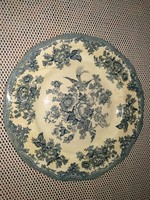 Antik, 19. sz.-i Wedgwood porcelán / fajansz tányér kínai stílusú dekorral