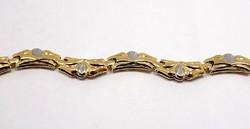 Sárga-fehér arany karkötő (ZAL-Au85988)