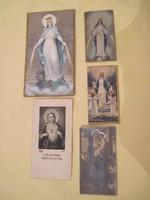 Antik szentképek imakönyvbe gyűjteménybe 5 db.