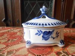 Gzhel - Gzsel porcelán nagyméretű bonbonier