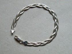 KK481 gyönyörű ezüst karkötő 925 fémjelzett 19 cm hosszú karlánc