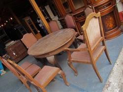 Barokk asztal + 8 db szék
