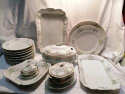 PL S Vienna antik porcelán étkészlet egy része