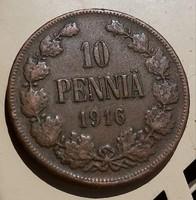 Finn 10 Pennia 1916.