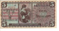5 dollár 1958 USA Military