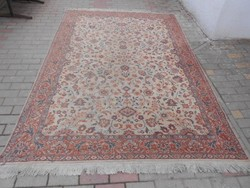Antik kézi, perzsa szőnyeg, dús, virág motívumokkal. Fotók szerint.