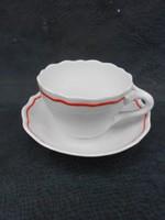 Zsolnay  teás csésze 1930-as évek. Fodrozódó peremmel, különleges fül kidolgozással. Hibátlan.