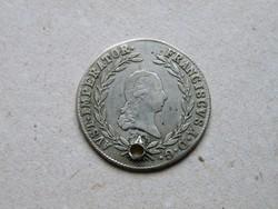 KK476 1819 20 krajcár ezüst érme