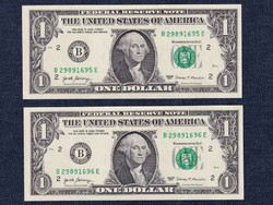 2 db UNC sorszámkövető USA Dollár bankjegy 2017 / id 15158/