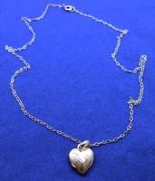 Ezüstlánc nyitható szív függővel 925-ös