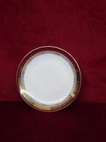 H & C csehszlovák porcelán antik süteményes tányér bordó/arany szegéllyel.