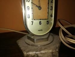 Art Deco stílusban készült Mofém asztali lámpa-óra.