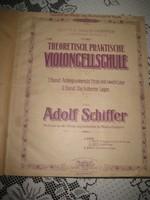 D: Popper  Teoretisch , Praktische  , Violincellschule  , kétnyelvű  magyar- német zenei könyv