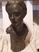 Horváth Árpád :1928 nagyméretű büszt szobor 65cm