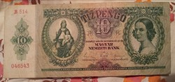 Tíz Pengő 1936..bankjegy