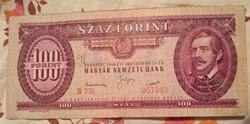 100 Forint 1949. Rákosi címerrel.