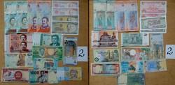 Külföldi vegyes bankjegy  válogatás 18 db 2.tétel UNC hajtatlan