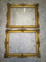 2db antik aranyozott blondell képkeret, 45x35cm