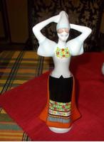 Aquincumi porcelán.Népviseletes leány