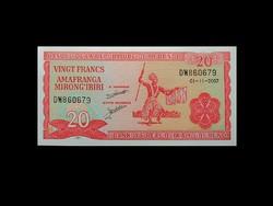 UNC - BURUNDI - 20 FRANCS - 2007